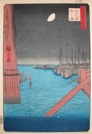 歌川広重: Tsukudajima from Eitai Bridge - Ronin Gallery
