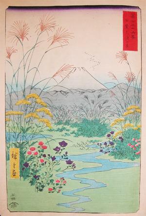 歌川広重: Fall Flowers at Otsuki-no-hara, Kai - Ronin Gallery