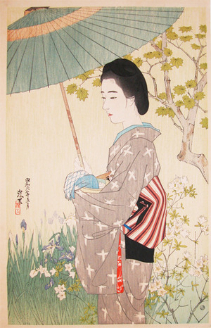 伊東深水: May Rain - Ronin Gallery
