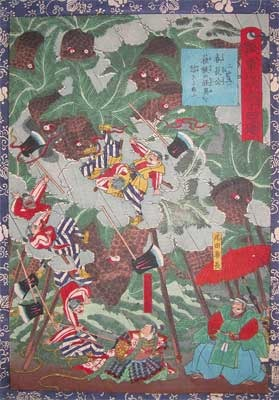 Utagawa Yoshitsuya: Harunaga-ko and the Angry Sotetsu - Ronin Gallery
