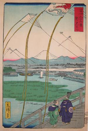 二歌川広重: Shin-Ohashi Bridge - Ronin Gallery