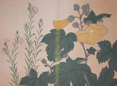 Sakai Hoitsu: Princess Bellflower and Cotton Rose - Ronin Gallery