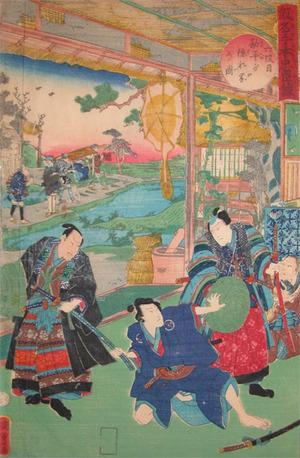 二代歌川国貞: Act.VI; Kanpei's House - Ronin Gallery