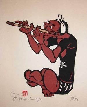 Mori Yoshitoshi: Bamboo Flute - Ronin Gallery