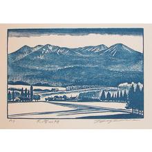 Hagiwara, Tsuneyoshi: Mt. Daisetsuzan - Ronin Gallery