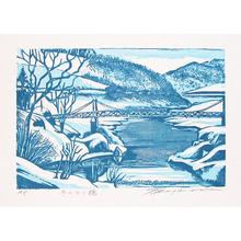 Hagiwara, Tsuneyoshi: Snow Bridge - Ronin Gallery