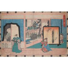 Utagawa Hiroshige: Act II: Momoi Mansion - Ronin Gallery