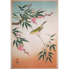 Shizuo: Uguisu Bird on Plum Branch - Ronin Gallery