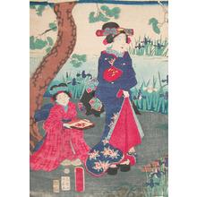 Utagawa Fusatane: Iris Garden - Ronin Gallery