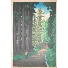 Kawase Hasui: Cryptomeria Avenue, Nikko - Ronin Gallery