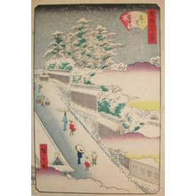 二歌川広重: Kasumigaseki in Snow - Ronin Gallery