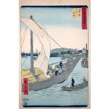 Utagawa Hiroshige: Kuwana: Shichiri Ferry - Ronin Gallery