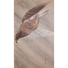 Koson: Eagle in Descent During a Heavy Storm - Ronin Gallery