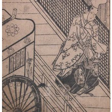 菱川師宣: Aristocrat and Imperial Cart - Ronin Gallery