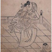 菱川師宣: Shinto Dance - Ronin Gallery