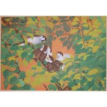 Rakuzan: Early Summer: Sparrow Fledglings and Plum Tree - Ronin Gallery