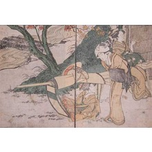 Kitagawa Utamaro: Maple Viewing - Ronin Gallery