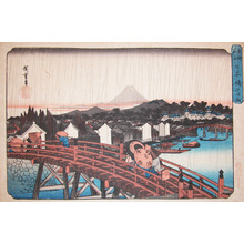 Utagawa Hiroshige: Shower over Nihonbashi Bridge - Ronin Gallery