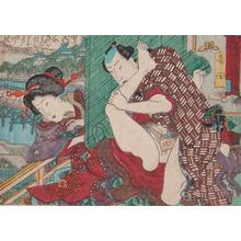 歌川広重: Yoshida, Behing the Screen - Ronin Gallery