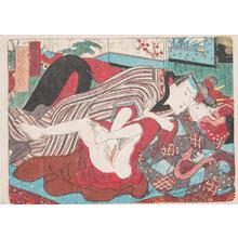 Utagawa Kunisada: Lovers in the Yoshiwara - Ronin Gallery