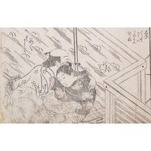 Nishikawa Sukenobu: Rain Storm - Ronin Gallery