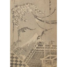 Katsushika Hokusai: The Festival: Fuji at Tanabata - Ronin Gallery