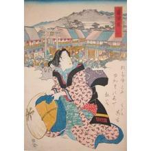 Keisai Eisen: Fujisawa: Torii Gate to Benten Shrine - Ronin Gallery