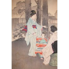 Gekko: Bijin and Young Girl on a Summer Night - Ronin Gallery