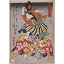 Utagawa Hirosada: Matching Poem - Ronin Gallery