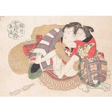 Utagawa Kunisada: Sumo Wrestler and Lover - Ronin Gallery