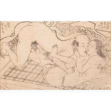 西川祐信: Kisses - Ronin Gallery