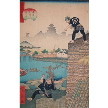 Utagawa Hirokage: The Wood Market in Edo - Ronin Gallery
