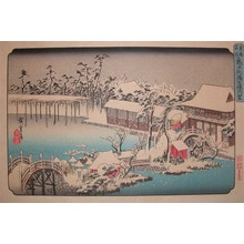 Utagawa Hiroshige: Reproduction: Kameido Tenmangu in Snow - Ronin Gallery