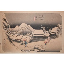 歌川広重: Reproduction: Kanbara - Ronin Gallery