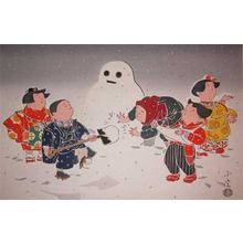 Sadanobu IV: Children in Snow - Ronin Gallery