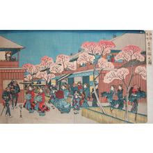 歌川広重: Cherry Blossom at Yoshiwara - Ronin Gallery