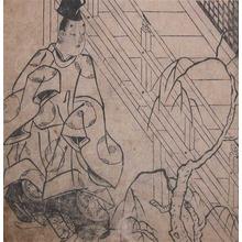 菱川師宣: Nobleman and Willow Tree - Ronin Gallery