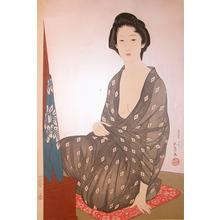 橋口五葉: Woman in Summer Kimono - Ronin Gallery