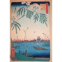 Utagawa Hiroshige: Ayase River and Kanegafuchi - Ronin Gallery
