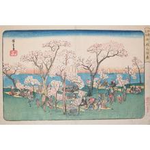 Utagawa Hiroshige: Cherry Blossom Viewing at Gotenyama - Ronin Gallery