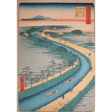 Utagawa Hiroshige: Towboats Along the Yotsugi-dori Canal - Ronin Gallery