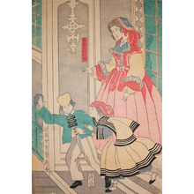 Utagawa Sadahide: South American Woman and Children - Ronin Gallery