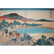 葛飾北斎: Fukui Bridge in Echizen - Ronin Gallery