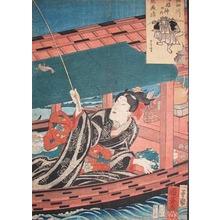 Utagawa Kuniyoshi: Ebisu; Fishing on Sumida River - Ronin Gallery