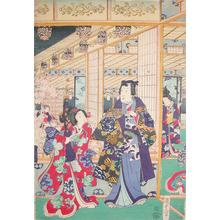 二代歌川国貞: Inside the Yoshiwara - Ronin Gallery