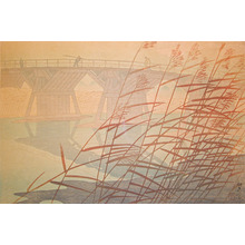 笠松紫浪: Imaibashi Bridge in Late Autumn - Ronin Gallery