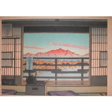 Kawase Hasui: Morning at Hot Spring Inn, Shiobara - Ronin Gallery