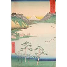 歌川広重: Lake Suwa, Shinano - Ronin Gallery