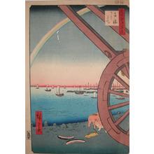 歌川広重: Ushimachi, Takanawa - Ronin Gallery