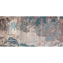 歌川国芳: Soga Goro Tokimune Attacking the Camp of Yoritomo - Ronin Gallery